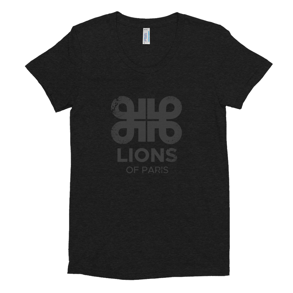 Lions Distressed Noire Logo Tee
