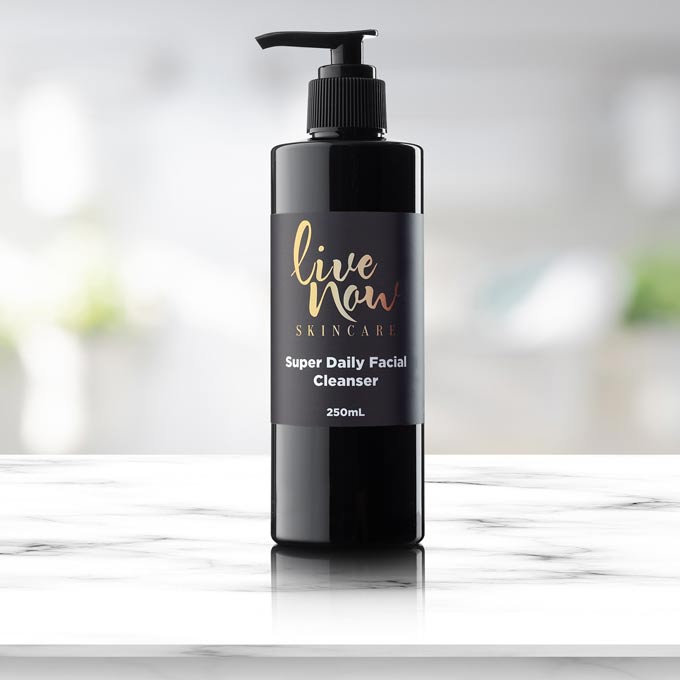 daily facial cleanser by live now