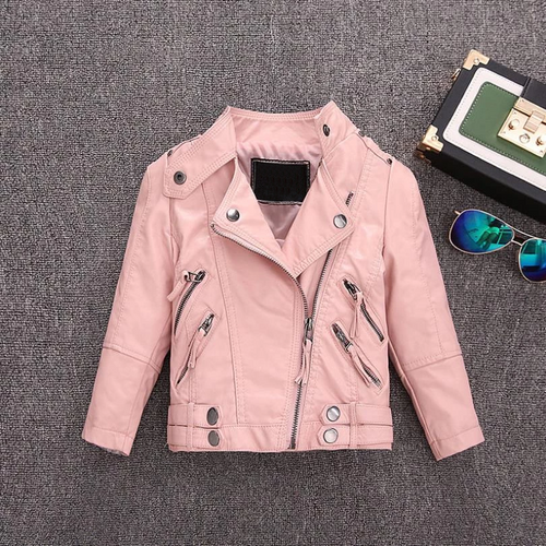 Pu leather jackets for baby girl and boys loose good quality children coats kids spring sutumn tops