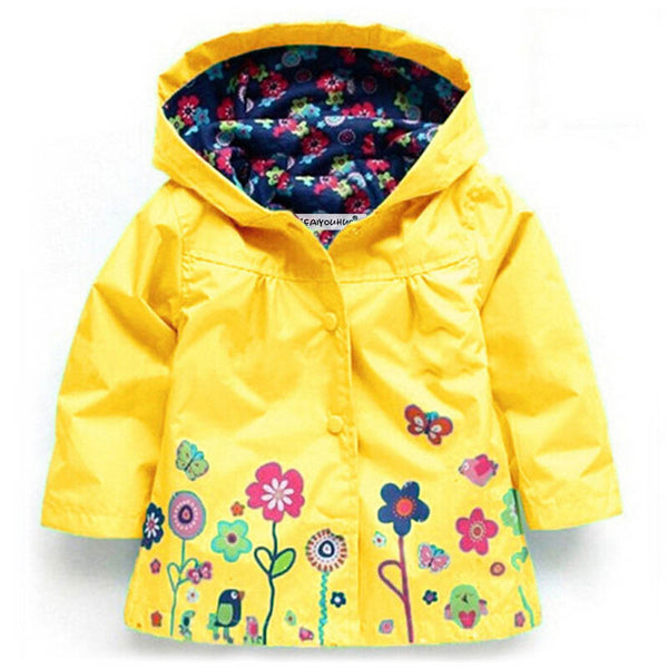 Children's hooded waterproof raincoat