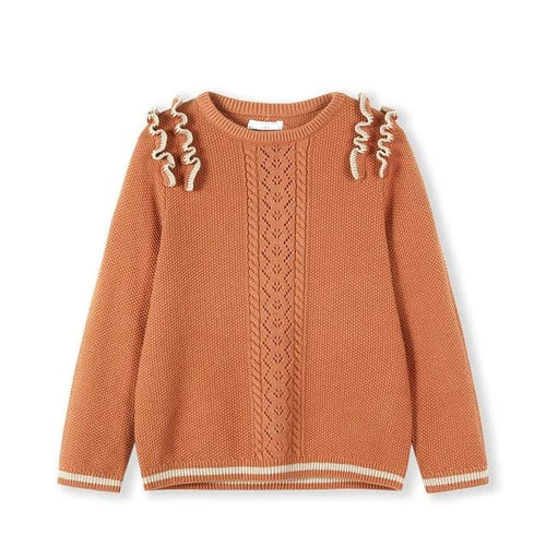 Girls sweater round neck pullover cotton clothes
