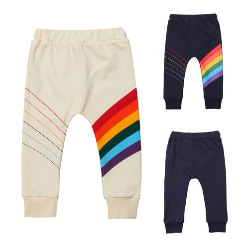 Fashion Toddler Kid Baby Boy Rainbow Pants Children's Pants Bottom Casual Trousers