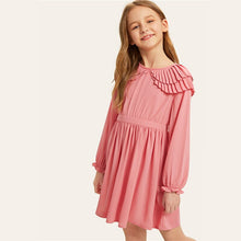 Load image into Gallery viewer, Pink Layered Pleated Ruffle Girls Dress
