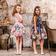 Load image into Gallery viewer, Girls Dress Flower Print Dress