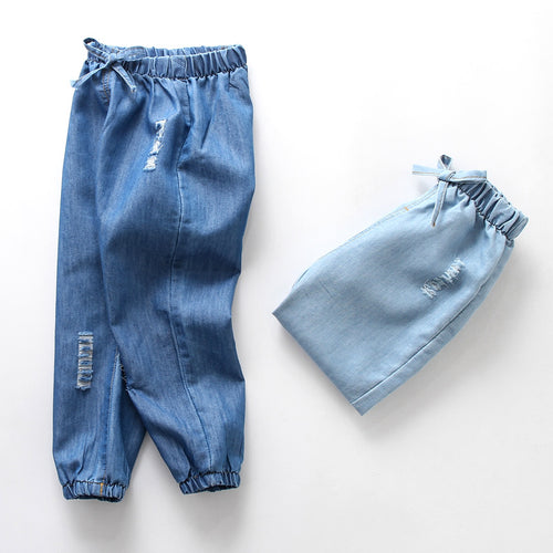 toddler boys kids outfit loose denim casual trousers for children boys cool pants