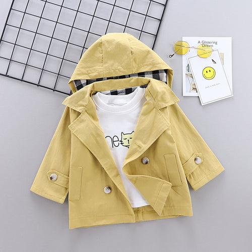 Spring fall Baby Boys Clothing Hooded Windbreaker Jacket for Newborn Babies Clothes Fashion jackets coats