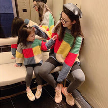 Load image into Gallery viewer, Retro Mother Daughter Wool Sweater