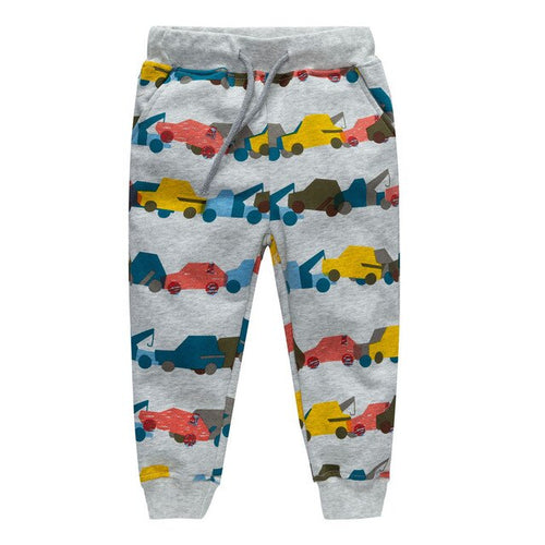 2019 new Boys Pants Trailer Printed Cotton Children Trousers