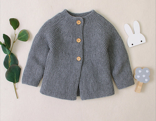 Autumn Winter Cotton Sweater Top Baby Children's Clothing Boys Girls Knitted Cardigan Sweater