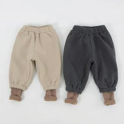 children's wear new boys and girls personality  two pieces thicker casual pants