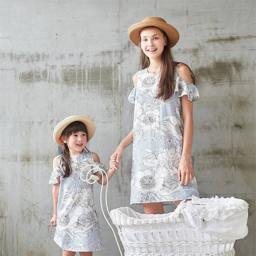 Striped Dress Family Matching Set