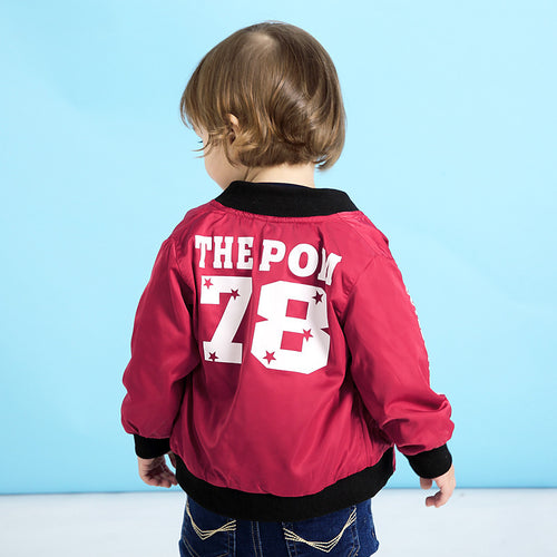 Spring Children Clothes New Fashion Baby Coat Digital Printing Baby Outerwear Two Colors Baby Baseball Jacket
