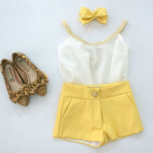 Load image into Gallery viewer, 2019 Kids Suits Baby Girl's Clothes Summer Style Sets Sleeveless Sling Chiffon Vest + Shorts