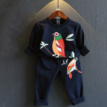 Load image into Gallery viewer, 2019 Autumn Children Girl Print Casual Trousers Sport Clothes Set 2 Piece Set