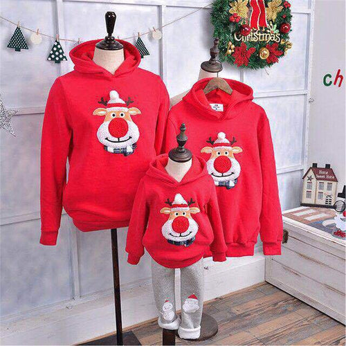 Christmas Clothes Family Matching Outfits Women Men Baby Pullover Sweatshirt