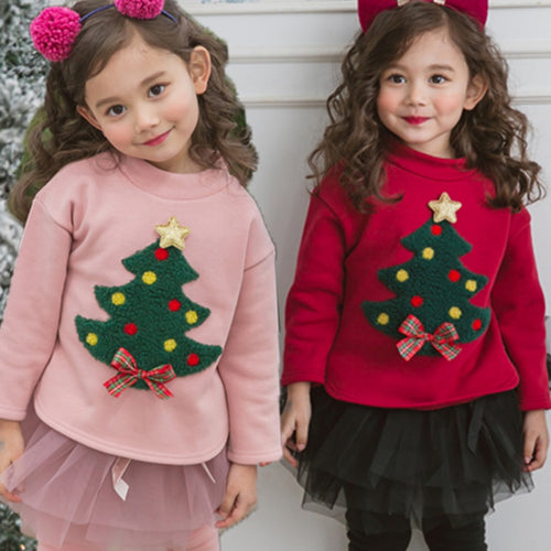 cotton plus velvet warm  Thick Warm Plus Velvet Christmas Tree shirt
