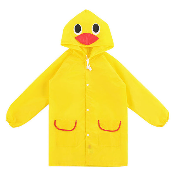 Cartoon style waterproof children's raincoat
