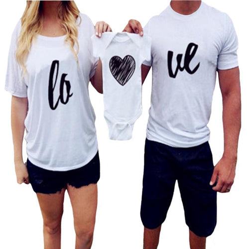Family Matching Outfits Fashion Summer Letter Print Parent-child T-shirt