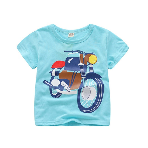 Summer Boys Girls Shirts Cotton Children T-shirts Colored Tops For