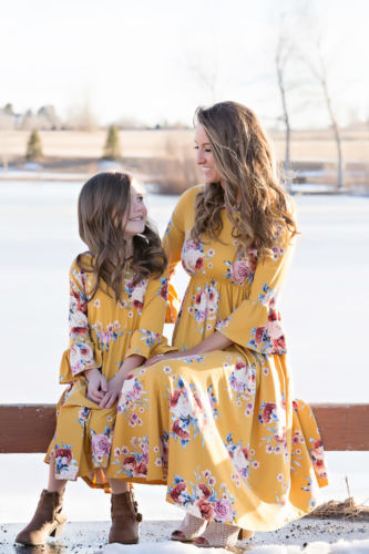 Mother daughter dress parent-child