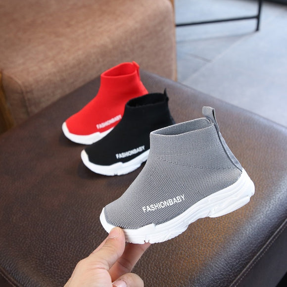 Children's knitted outdoor shoes