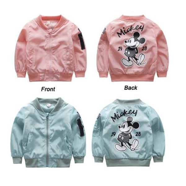 DRESSINGLIKE 2019 Mickey Jacket  Clothes Girls Boys Coat Cartoon