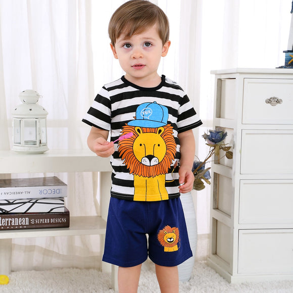 Boys Clothes Sets T-shirt + Baby Girl Clothes Kids Suit