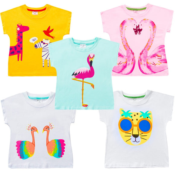 DRESSINGLIKE 2019 T-shirt100% cotton kids summer clothe