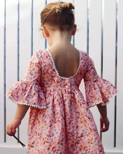 Load image into Gallery viewer, Cute Toddler Kid Baby Girl Long Sleeve Floral Princess Boho Pageant Dress