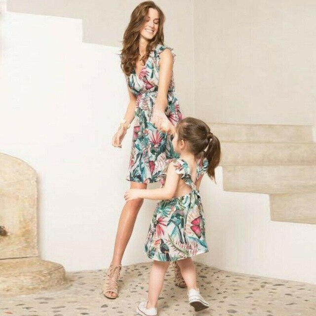 family matching mother daughter dresses clothes