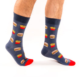 Calcetines hombre hamburguesas I Socks Lab I The Socks Closet