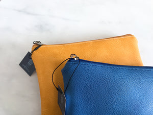 Vegan leather pouch