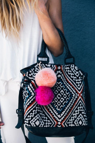 Fur Pom Pom Key Chain