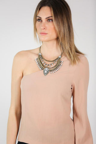 Blair Brass Statement Necklace
