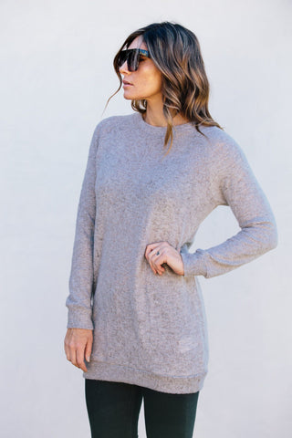 Cara Knit Sweater- Grey