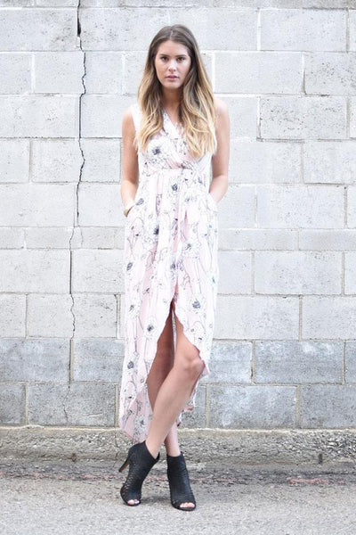 Peony High Slit Dress