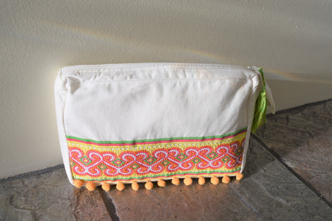 Colorful Cotton Clutch
