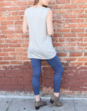 Sleeveless Jersey Top - Heather Grey