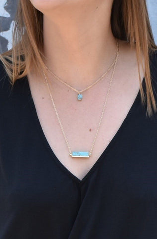 Turquoise double layer Necklace