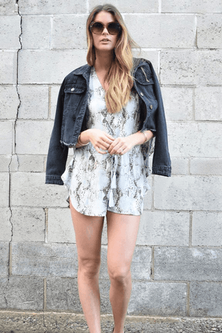 Boyfriend Distressed Jacket