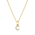 Diamond Initial - Yellow Gold