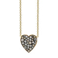 Champagne Diamond Heart Pendant