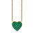 Emerald Heart Black Rhodium Pendant