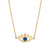14k yellowgold evil eye with gemstone necklace