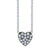 White Diamond Black Rhodium Heart Pendant