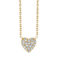 White Diamond Heart Pendant
