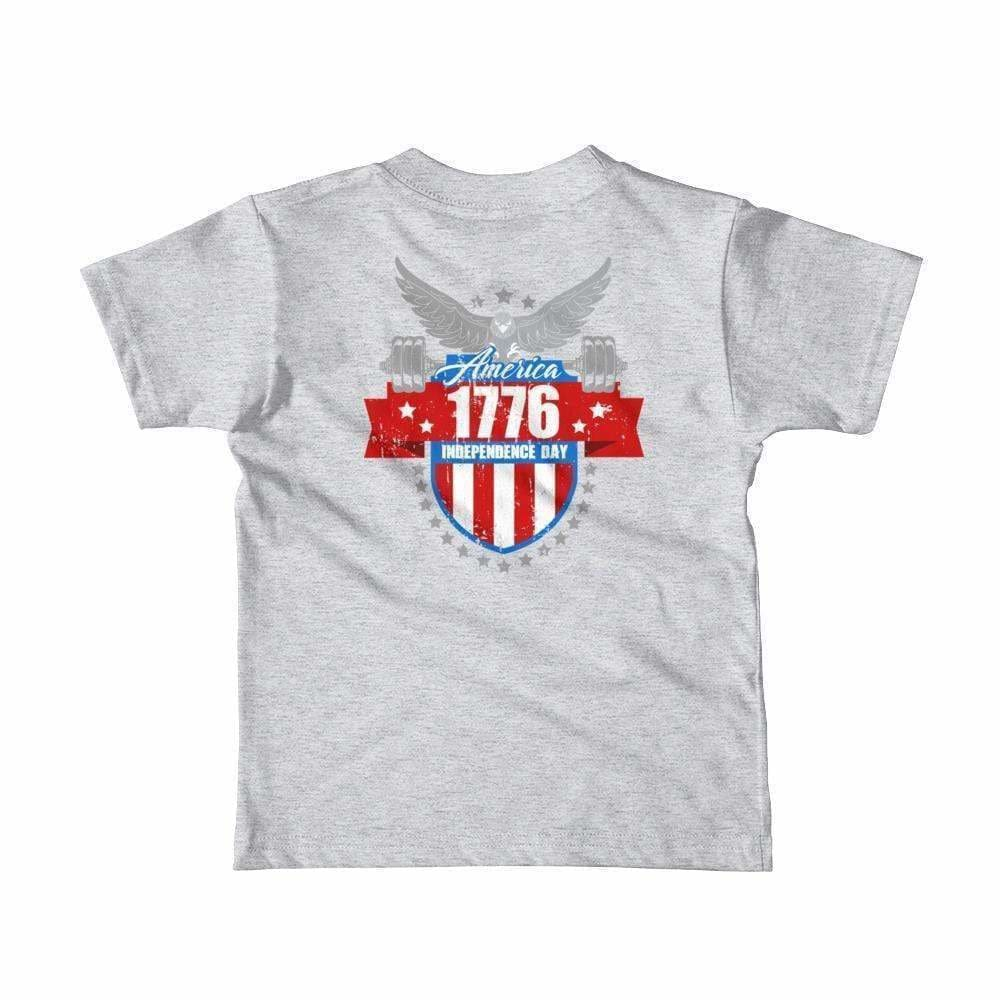 2019 WOD Obsessed 1776 4th of July Short Sleeve Kids T-Shirt - wodobsessed.com