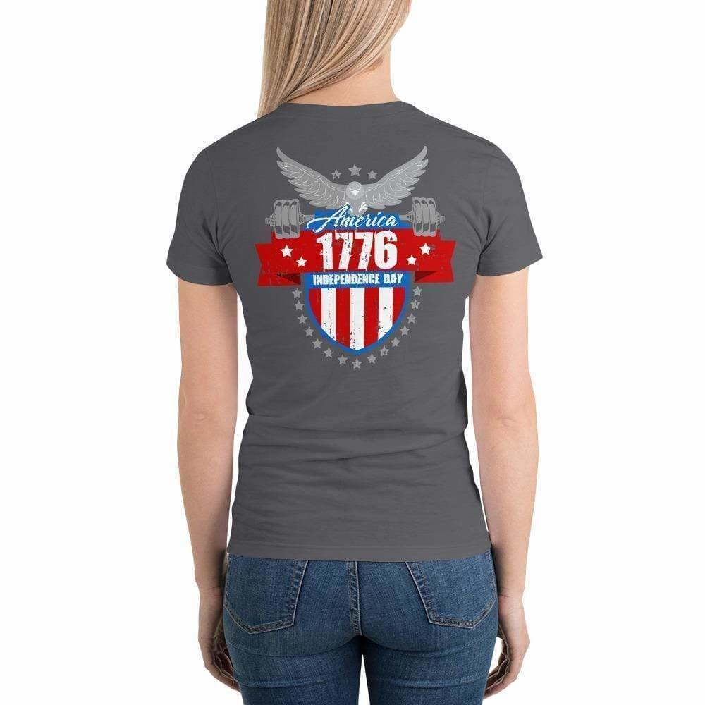 2019 WOD Obsessed 1776 4th of July Short Sleeve Women's T-Shirt - wodobsessed.com