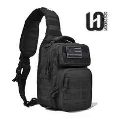 Tactical Sling Bag Pack With FREE United States Flag & WOD Obsessed patches!