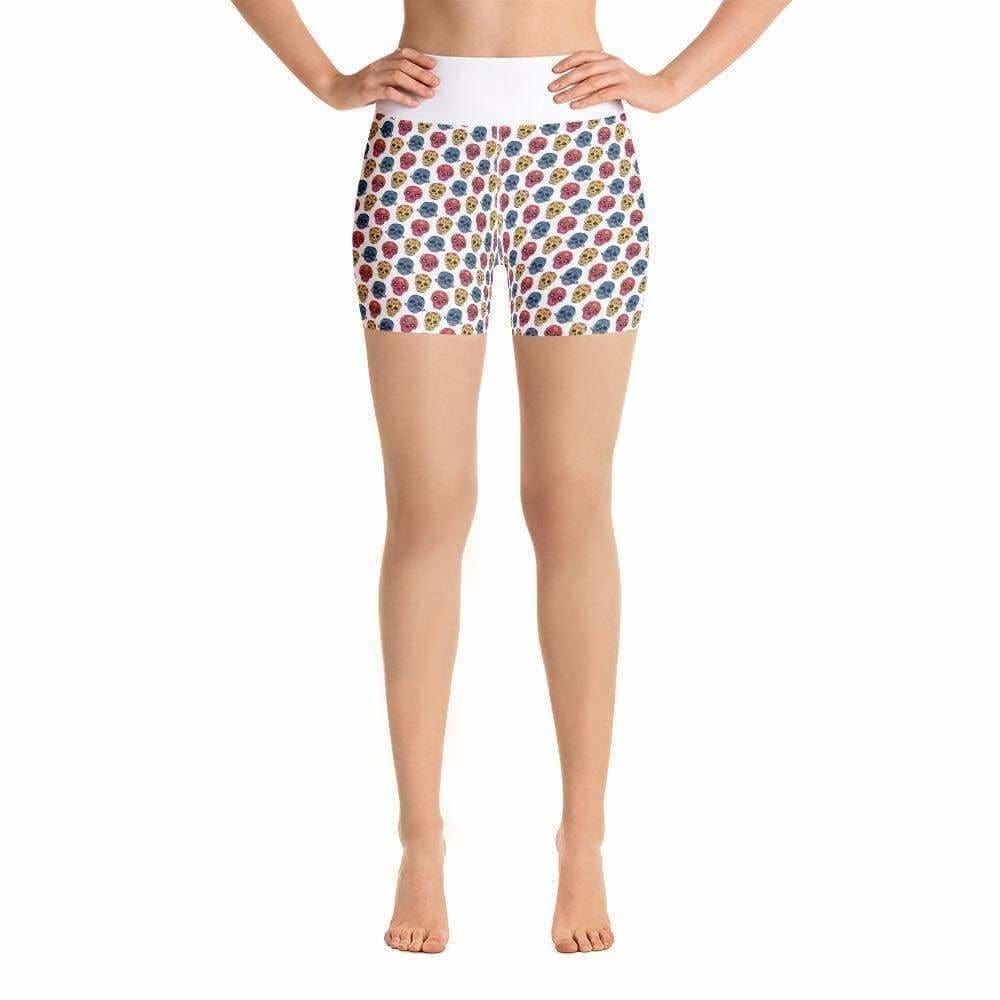 WOD Obsessed Sugar Skull Yoga Shorts - wodobsessed.com